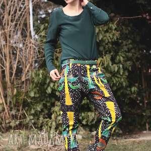 spodnie afrykańskie, wzorzyste, batik, gruba, oversize