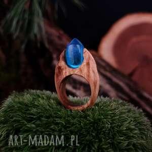 drzewiec drewniany pierścień lączony z żywicą druids ring, drewniany, drewno