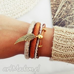 bransoletki golden wing, bransoletka, handmade, skrzydło, skrzydełko biżuteria