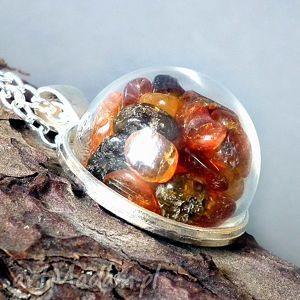 bursztynowe terrarium niezwykły naszyjnik - bursztyn, baltycki, bałtycki