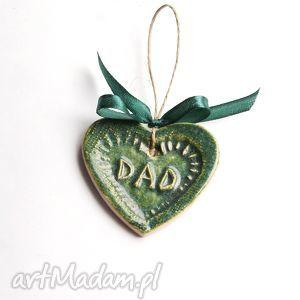 dla taty ceramiczne serduszko, choinka, święta, tata, ojciec, ojca