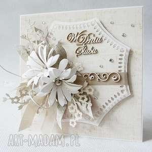 handmade scrapbooking kartki w dniu ślubu - w pudełku
