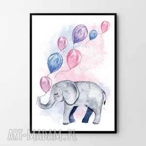 pokoik dziecka plakat obraz słonik 50x70 cm b2, obraz, plakat