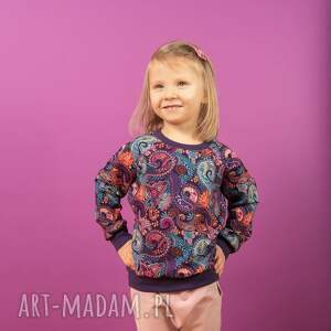 bluza dresowa orient fiolet, dresowa, bez kaptura, bawełniana