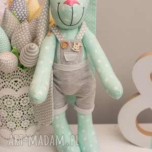 zabawki królik z imeiniem chrzest prezent, królik, przytulanka, personalizacja