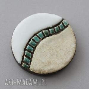 harmonia - broszka ceramiczna, praca, minimalizm, design, natura, prezent, joga