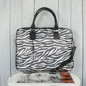 handmade torba na laptopa zebra manzana