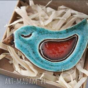 broszki ptaszek-broszka ceramika, minimalizm, skandynawski, design, jeansy