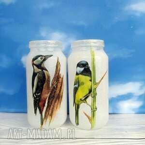 handmade dekoracje ptaki. Dekoracyjne słoiczki z kolekcji vögel im winter