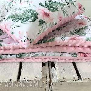 ręcznie robione pokoik dziecka kocyk z poduszką róże