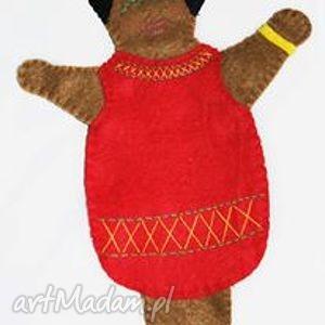 Filcowa pacynka lady afro - maskotka do kreatywnej zabawy