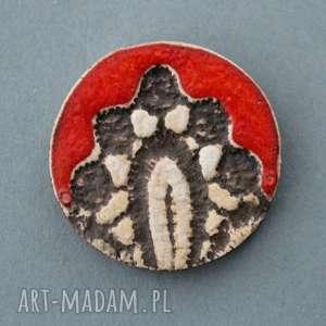 ornament-broszka ceramiczna - mama, imieniny, prezent, urodziny, przypinka, upominek