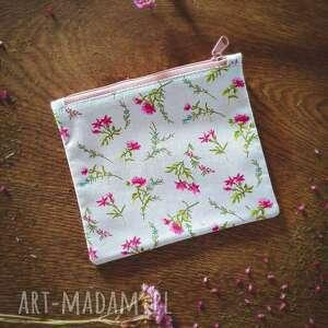 handmade kosmetyczki kosmetyczka zero waste kwiatuszki