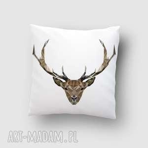 poduszka z jeleniem, poduszka, jeleń, dom, jelonek, lowpoly, wnętrze poduszki