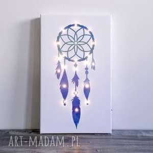 dekoracje świecący obraz łapacz snów prezent dziecko lampka dekoracja na ślub