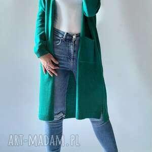 feltrisimi kardigan długi płaszczyk z kieszeniami, długi, sweter, kieszeniami