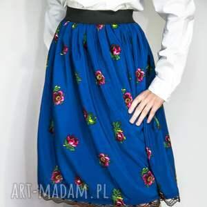 Spódnica ludowa kolor niebieski dla dziewczynki 10-12 lat, spódnica