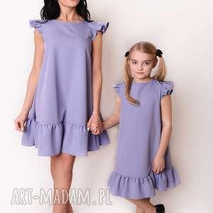 LATORI - Sukienka dziewczęca z kolekcji Mama i Córka dla córki LD41/1 (Lawendowy)