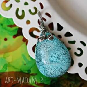 handmade wisiorki turkusowa łezka