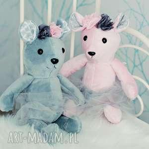 przytulanka dziecieca mysz w spódniczce 2 kolory - mysz na prezent, myszka hand made