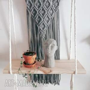 ręcznie wykonane dekoracje półka makrama ze sznurka z deską