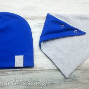 komplet czapka trójkąt apaszka, chustka - czapka, komin, szalik, apaszka