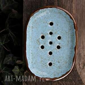 mydelniczka ceramiczna niebieski piasek, mydelniczla