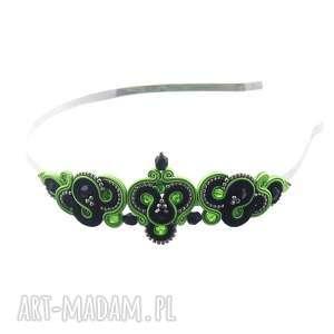 ręczne wykonanie ozdoby do butów opaska włosów soutache lirite green