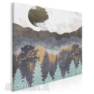 vaku dsgn obraz na płótnie - góry lasy abstrakcja w kwadracie 80x80 cm