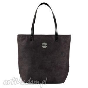 unikalny prezent, torba simple black skin, worek, czarny, handmade, manamana