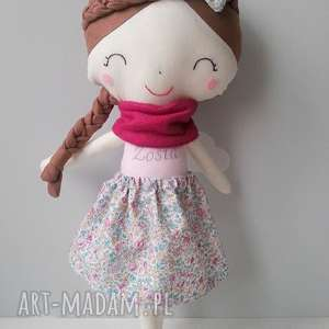 lalka Gabrysia3, lalka, bawełna, personalizacja, przytulanka, uszyte, dziewczynka
