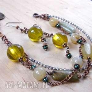 ręcznie robione bransoletki bransoletka beżowo-oliwkowa