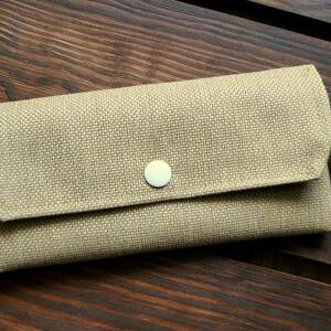 ręcznie wykonane portfele materiałowy portfelik moro