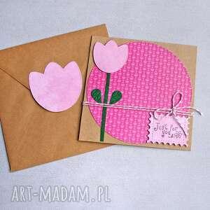 kartki just for you kartka uniwersalna tulipan, urodziny, urodzinowa