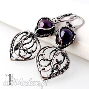 kolczyki skadi - srebrne kolczyki z perłami