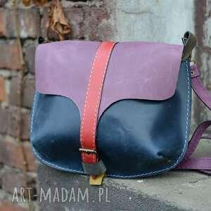 kolorowa skórzana torebka na ramię, mała torebka, mini