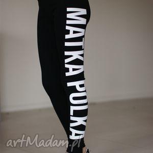 sportowe legginsy w sportowym stylu z nadrukiem bawełniane, redmasterclothes