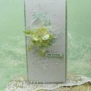 moc życzeń - pastelowa kartka w pudełku, imieniny, ślubna