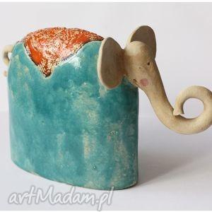 ręcznie wykonane ceramika słoń ceramiczny