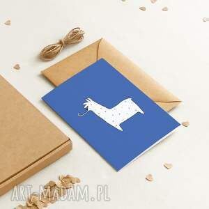ekologiczna kartka okolicznościowa urodzinowa / dla dzieci trumpet, minimalizm