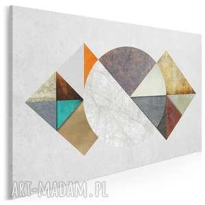obraz na płótnie - abstrakcja geometria tekstury 120x80 cm 40901, trójkąty
