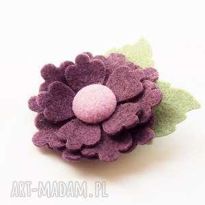 hand-made ozdoby do włosów spinka kwiatek