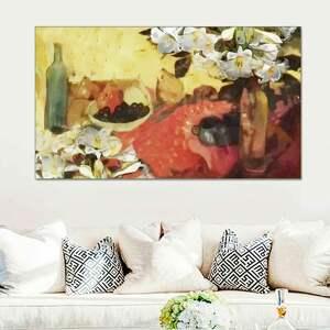 Obraz na płótnie martwa natura z liliami 100 x 60, nowoczesny