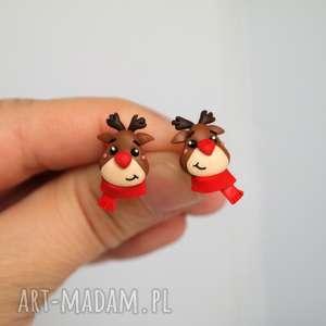 pomysł na świąteczny upominek Kolczyki renifer Rudolf - prezent
