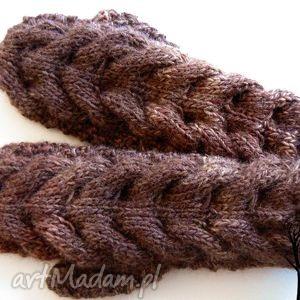 Z jednym palcem #1, rękawiczki, jednopalczaste, warkoczowe, warkocz