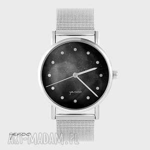 Prezent Zegarek, bransoletka - Czarny metalowy, zegarek, bransoletka, metalowy