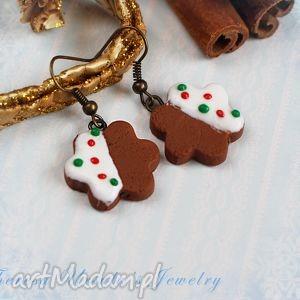 świąteczny prezent ŚWIĄTECZNE kolczyki pierniczki ciastka NA PREZENT,