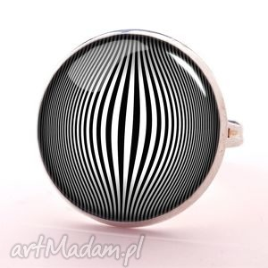 op-art - pierścionek regulowany egginegg, opart