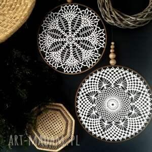2 x łapacz snów biały, lapacz, snów, dekoracja ścienna, koronka, koło