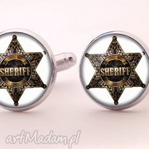 sheriff - spinki do mankietów, odznaka, szeryf